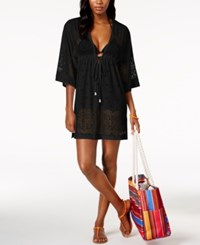 Dotti Free Spirit Kimono Cover Up Women's Swimsuit Black