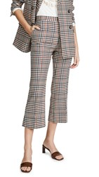 Edition10 Plaid Cropped Flare Pants Wales Check