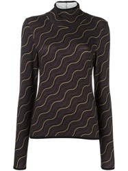 Aalto Wavy Print Sweater Brown
