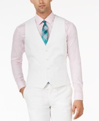 Bar Iii White Slim Fit Vest Only At Macy's