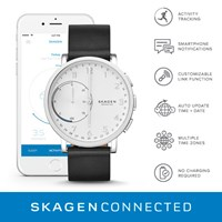 Skagen Skt1101 Mens Bracelet Smart Watch Black White Black White