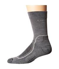 Icebreaker Hike Light Crew 1 Pair Pack Twister Heather Silver Oil Men's Crew Cut Socks Shoes Gray