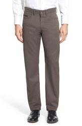Men's Ballin Flat Front Solid Wool Blend Trousers Taupe Mix