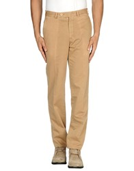 Santaniello And B. Trousers Casual Trousers Men Camel