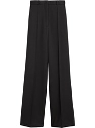 Burberry High Waisted Wool Trousers Black
