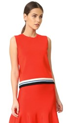 Victoria Beckham Sleeveless Pullover Flame Red Multi