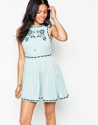 Free People Birds Of Feather Dress Sea Fog Blue