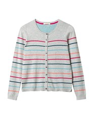 White Stuff Candy Stripe Cotton Cardi Grey