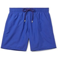 Vilebrequin Moorea Mid Length Embroidered Swim Shorts Navy