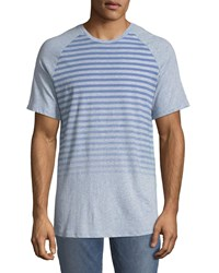 Civil Society Chillax Striped Raglan Sleeve T Shirt Blue
