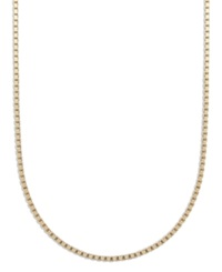 Giani Bernini 24K Gold Over Sterling Silver Necklace 16' Box Chain