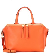 Loewe Zipper Leather Tote Orange