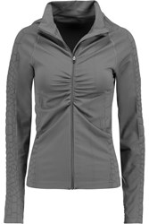 Yummie Tummie Vera Croc Effect Stretch Jersey Jacket Gray