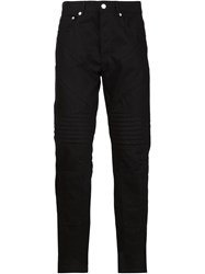 Givenchy Biker Style Trousers Black