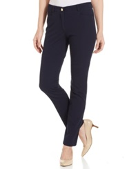 Charter Club Slim Leg Twill Pants Navy