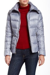 Guess Funnel Neck Short Down Jacket Gray