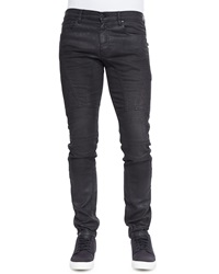 Belstaff Eversley Slim Fit Moto Jeans Black