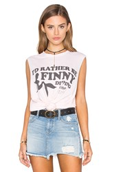 The Laundry Room Finny Dipping Muscle Tee Pink