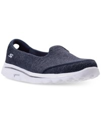 Skechers Women's Gowalk 2 Super Sock Courage Casual Walking Sneakers From Finish Line Navy White