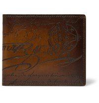 Berluti Makore Leather Billfold Wallet Brown