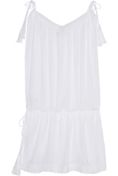 Melissa Odabash Tiggy Embroidered Voile Mini Dress