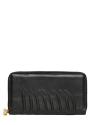 Alexander Mcqueen Rib Cage Leather Zip Around Wallet
