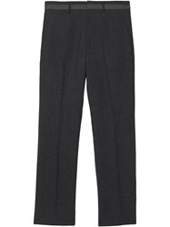 Burberry Classic Fit Wool Tailored Trousers Grey