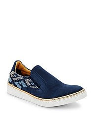 Robert Graham Navy Slip On Shoes