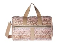 Le Sport Sac Cr Large Weekender Cheetah Cascade Weekender Overnight Luggage Beige