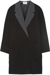 Alexander Wang Reversible Wool Blend Cocoon Coat Black