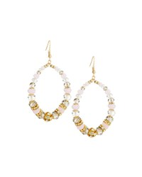 Emily And Ashley Crystal Beaded Statement Teardrop Earrings Pink