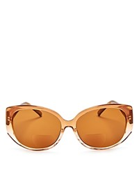 Corinne Mccormack Liz Oversized Square Reader Sunglasses 60Mm Taupe Fade Brown Solid