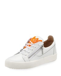 Giuseppe Zanotti Felted Signature Low Top Sneakers White