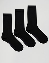 French Connection 3 Pack Plain Socks In A Box Black Pink