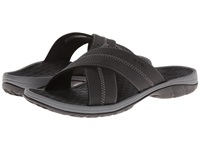 Vionic With Orthaheel Technology Adam Black Men's Sandals