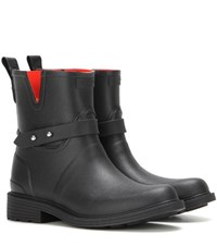 Rag And Bone Moto Rain Rubber Boots Black