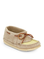 Eastland Casco Suede Moccasins Taupe Yellow