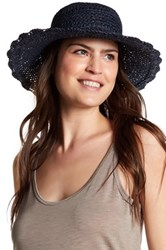 Melrose And Market Seagrass Straw Floppy Hat Blue
