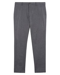 Jaeger Men's Cotton Birdseye Slim Trousers Grey