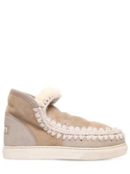 Mou 20Mm Mini Eskimo Metallic Boots Beige