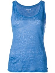 Majestic Filatures Round Neck Tank Top Blue