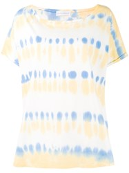 Faith Connexion Tie Dye Print T Shirt Blue