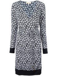 Michael Michael Kors Floral Print Shift Dress Blue