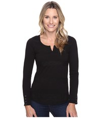 Aventura Clothing Athena Long Sleeve Top Black Women's Long Sleeve Pullover