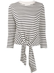 Current Elliott Tie Front Striped Sweatshirt 60