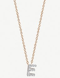 The Alkemistry Kismet By Milka 14Ct Rose Gold Initial E Necklace