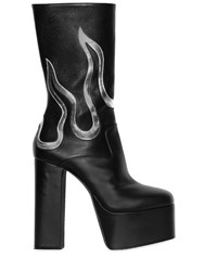 Dsquared 170Mm Flames Leather Ankle Boots