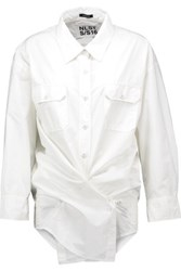 Nlst Cotton Poplin Shirt White
