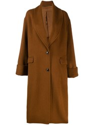 Joseph Oversized Single Breasted Coat Brown