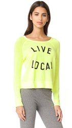 Sundry Live Local Crop Pullover Pop Lemon